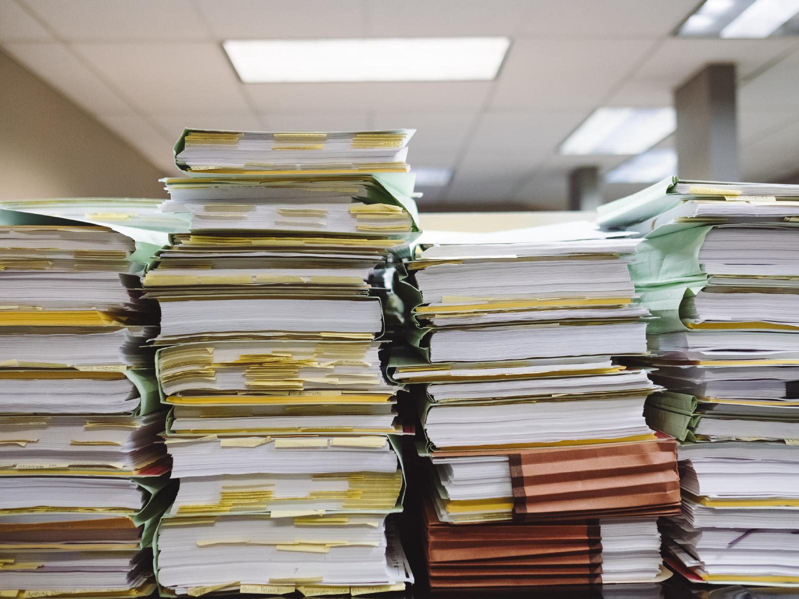 TLC organised office paperwork